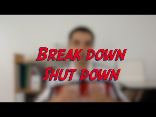 Break down / Shut down - W45D1 - Daily Phrasal Verbs - Learn English online free video lessons