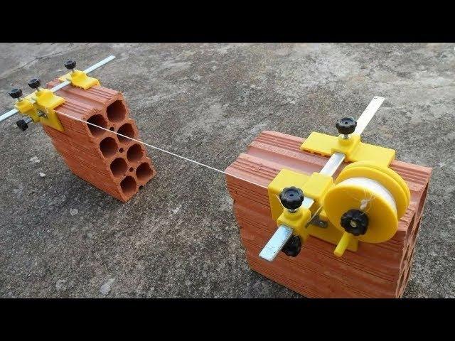 Como alinhar blocos e tijolos com o alinhador de bloco - Ferramenta Excelente !