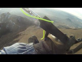 Полет на параплане с горы Бештау. 30 декабря 2017 года.