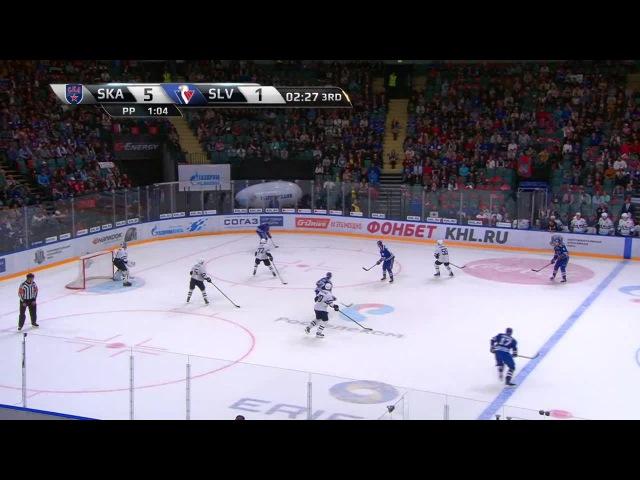 Моменты из матчей КХЛ сезона 16/17 • Гол. 6:1. Никита Гусев (СКА) расстрелял голкипера гостей 23.08
