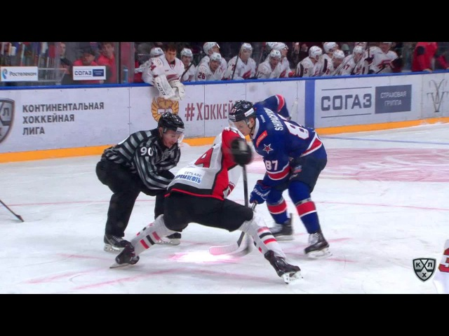 Моменты из матчей КХЛ сезона 16/17 • Гол. 2:1. Шипачёв Вадим (СКА) забрасывает шайбу в ворота сопеника в большинстве 11.01