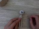 Как связать куклу крючком часть 7 уши