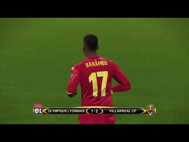 Lyon vs Villarreal / UEFA Europa League 2018 / Gameplay PES 2018