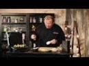 Груша-гриль с сырным кремом, вяленой клюквой и медом в Tefal Optigrill GC702