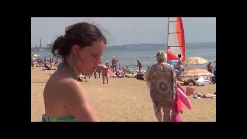 Фланкировка - Ольга - Владимир - пляж Феодосия - КРЫМ 2016 - Глобальная Волна - The Global Wave