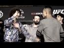 ПЕРВЫЕ БИТВЫ ВЗГЛЯДОВ UFC 222 Куницкая VS Сайборг