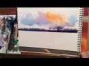 Colorful Sky Watercolor Instruction by KEN HOBSON