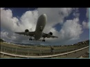 Insanely Low Takeoff from St. Maarten (SXM) in Opposite Direction over Maho Beach