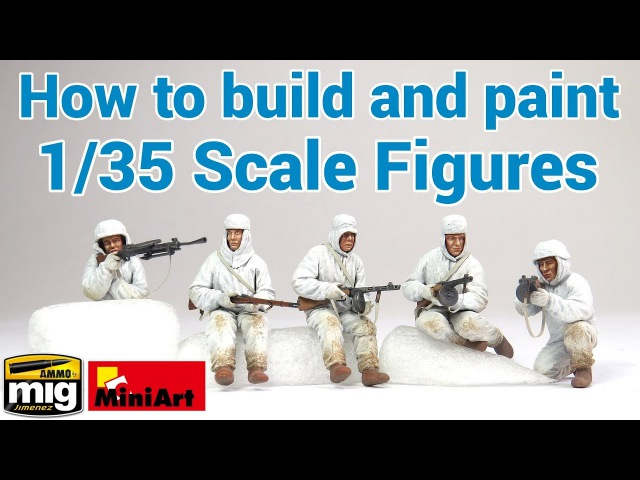 How to build and paint 1 35 scale figures MiniArt's 'Soviet Assault Infantry' AMMO's Flesh Tones
