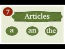 Articles in English Артикли в английском языке