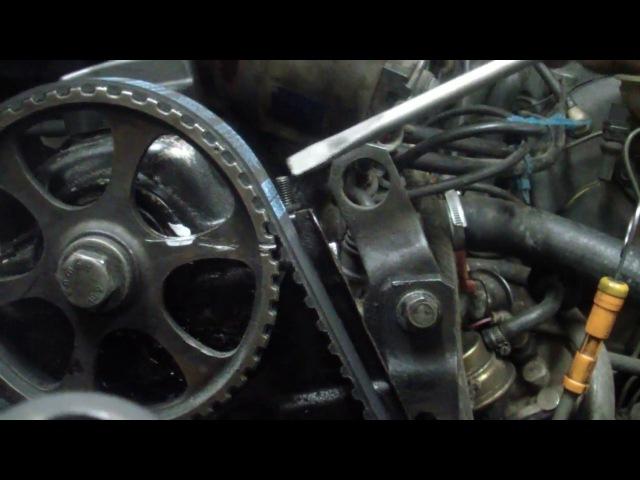 AUDI 80 1987г (бочка) замена помпы