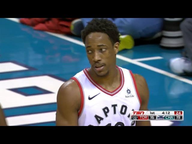 Toronto Raptors vs Charlotte Hornets- First Half Highlights | February 11, 2018 | 2017-18 NBA Season