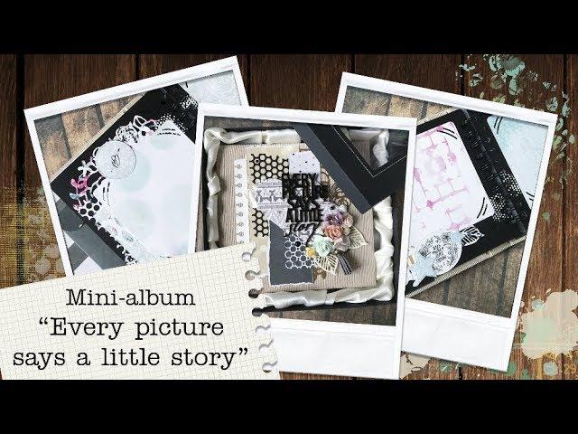 Бежевый вельветовый мини-альбом Every picture says a little story