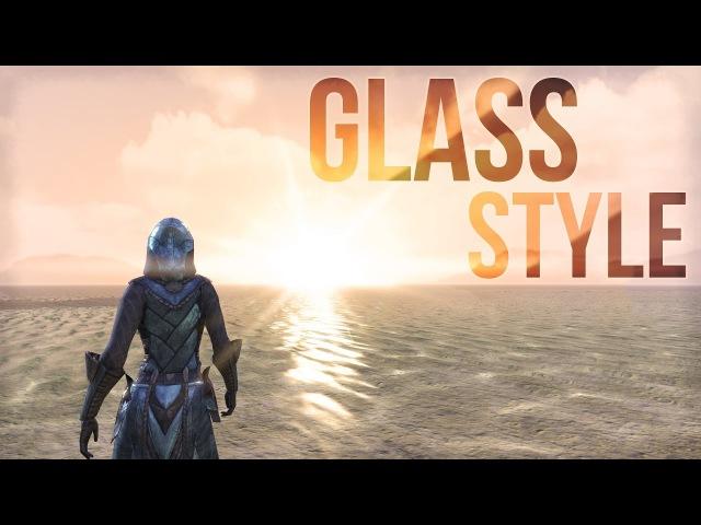 ESO Glass Motif - Armor Weapon Showcase of Glass Style in The Elder Scrolls Online