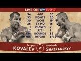 БОКС!! Сергей Ковалев Вячеслав Шабранский Sergey Kovalev vs Vyacheslav Shabranskyy