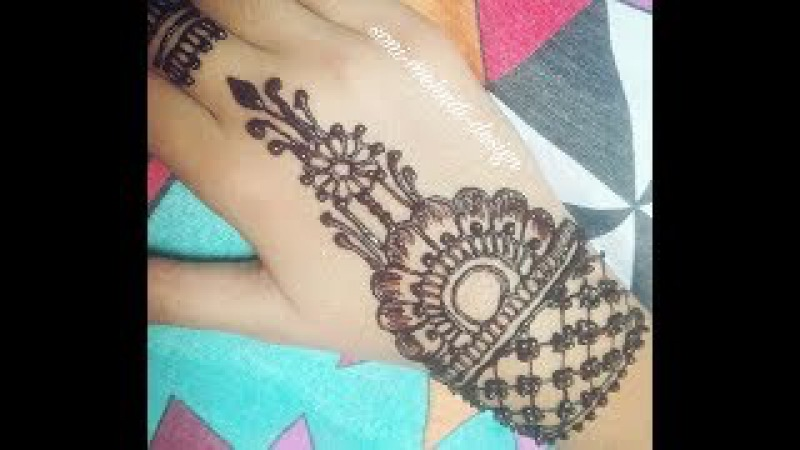 Step by Step Simple Beautiful Mehndi design for full hand | Henna mehendi designs(2017)