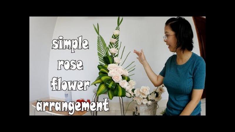 Cắm hoa bàn thờ tập 40 LẲNG HOA HỒNG ROSE Flowers Tutorial