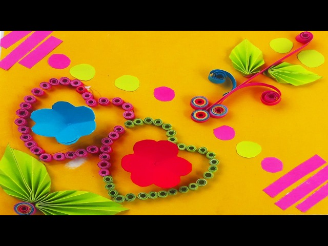 How to Make Greeting Card Quilling Flower Step by Step Kartka Okolicznościowa DIY PaperCard Tutorial