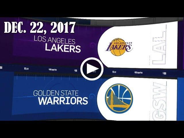 Lа Lаkеrs - Golden State Wаrriоrs   22.12.17   201718 NBA Season