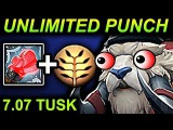 UNLIMITED PUNCH TUSK - DOTA 2 PATCH 7.07 NEW META PRO GAMEPLAY