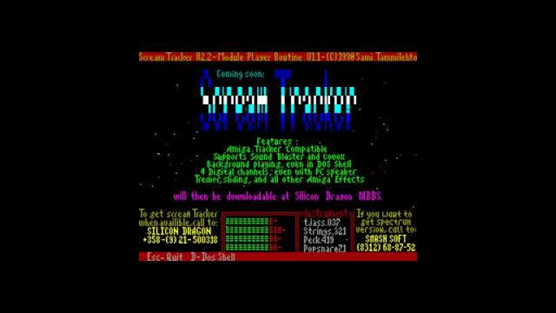 Scream Tracker Player - Smash Soft [zx spectrum AY Music Demo]