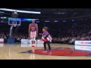 8 year old WOWS with Harlem Globetrotters
