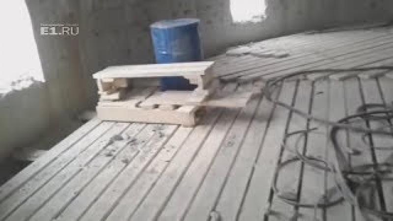 Обречённую башню экстремалы сняли изнутри. Real video