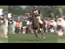 Mark Todd rides most of the course with one stirrup on Bertie Blunt in 1995