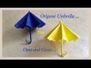 Origami Umbrella That Open And Closes / DIY / Origami Umbrella 🌂 Priti Sharma