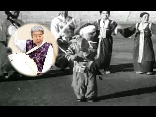 Уникальное видео - Ким Док Су в детском возрасте 사물놀이 창시자 김덕수의 어린 아이 시절 공연 모습