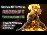 Redshift TurbulenceFD AOV Volume Explosion C4D