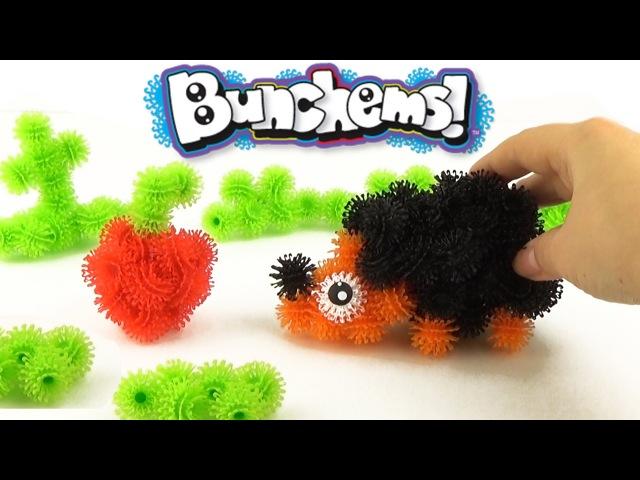 Конструктор Липучка для детей Банчемс мини-мультики с фигурками Bunchems