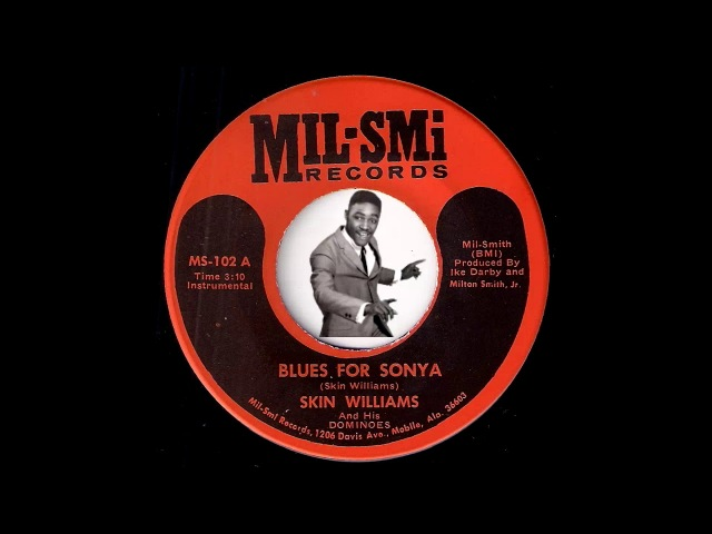 Skin Williams His Dominoes Blues For Sonya Mil Smi Blues Instrumental 45