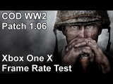 Call of Duty WW2 Xbox One X 1.04 vs 1.06 Frame Rate Test