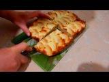 Овсяно-творожный пирог с яблоками.