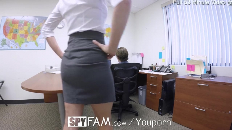 spyfam step son office anal fuck with step mom cory chase at
