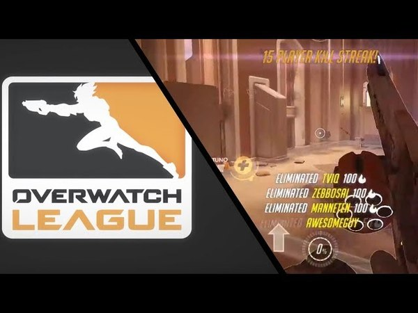 Carpe McCree amazing 4K flank for the win [Overwatch League]