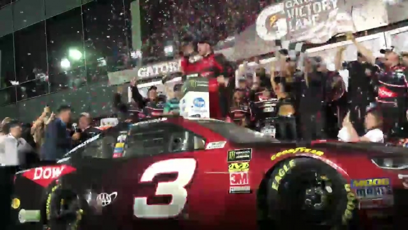 20 years later and Austin Dillon puts the 3 back in Gatorade Victory Lane in th