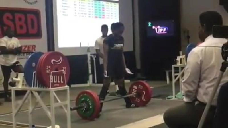 Джои Ннамани - тяга 200 кг (57 кг)