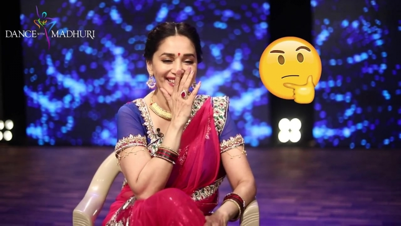 """Get a glimpse of Madhuri Dixit - Nene candid and unfiltered! Enjoy our witty little DWM behind-the-scenes segment """"Adla Badli!"""""""