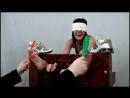 WayTooTicklish - Meredith Locked in Stocks and Tickled - Part I Bare Feet