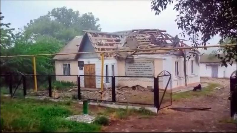 В селе Казацкое после артобстрела со стороны ВСУ повреждены газопровод и воскресная школа.
