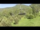 Канатно-кресельный подъемник. Подъем на гору Малая Синюха 1012 метров над уровнем моря.