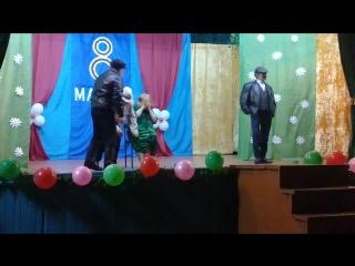 сценка про жену. 8 марта 2018г. в роли жены Макова С.Н