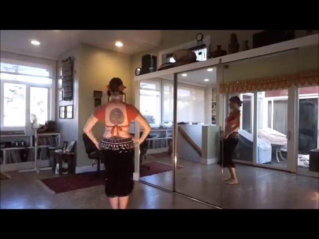 Tribal Belly Dance Drill Slow Specialty Turns - Reverse Turn, Propeller, Corkscrew (rev. 2016)
