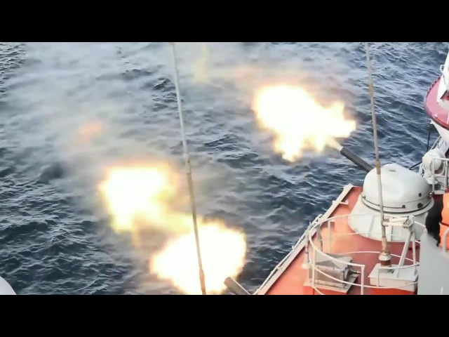 Russian Navy Firepower Demonstration - Old But Reliable Russian Warships Fire Their Weapons