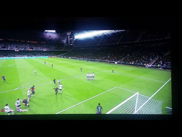 Perfect free-kick from Lionel Messi in fifa   Идеальный гол Лионеля Месси со штрафного в фифа