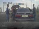 Драка на дороге в Алматы!