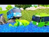Мультики про машинки - Маленький автобус Тайо на рыбалке - Диди тв