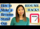 Resume Hacks How to Make a Resume Stand Out